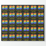 [ Thumbnail: 88th Birthday: Colorful Music Symbols, Rainbow 88 Wrapping Paper ]