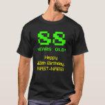 """[ Thumbnail: 88th Birthday: Fun, 8-Bit Look, Nerdy / Geeky """"88"""" T-Shirt ]"""