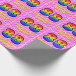 [ Thumbnail: 88th Birthday: Pink Stripes & Hearts, Rainbow # 88 Wrapping Paper ]