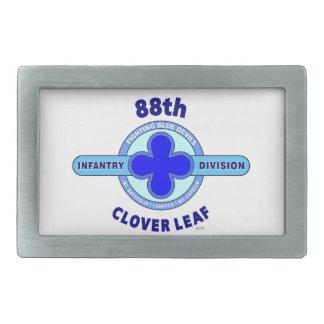 """88TH INFANTRY DIVISION """" CLOVER LEAF"""" DIVISION RECTANGULAR BELT BUCKLES"""