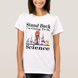 890 stand back l'm going to do science cartoon T-Shirt