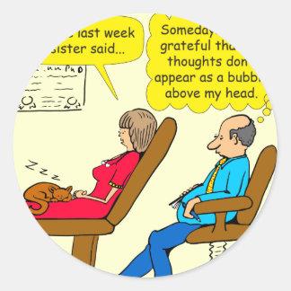 892 Private thought bubble therapist cartoon Classic Round Sticker