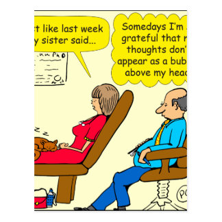 892 Private thought bubble therapist cartoon Postcard