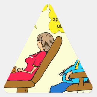892 Private thought bubble therapist cartoon Triangle Sticker
