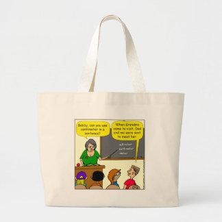 893 Centimeters play on word school cartoon Large Tote Bag