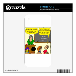 893 Centimeters play on word school cartoon Skin For iPhone 4S