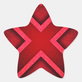 896981 RED X BLACK SYMBOL GRAPHICS LOGO TOUGH FUTU STAR STICKER