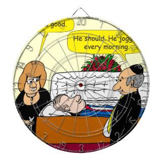 898 He looks good funeral cartoon Dartboard With Darts