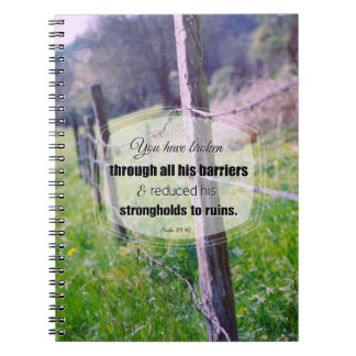 89:40 del salmo de la fotografía del vintage libro de apuntes