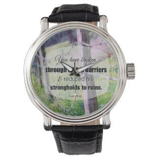 89:40 del salmo de la fotografía del vintage relojes de pulsera