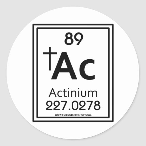 89 Actinium Stickers