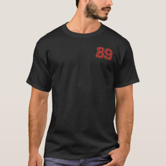 89 and fabulous 89th birthday red roses floral T-Shirt
