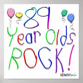 ¡89 años de la roca posters