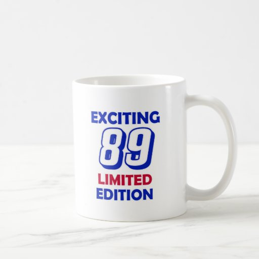 89 Birthday design Classic White Coffee Mug