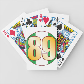 89 NIGERIA Gold Bicycle Playing Cards