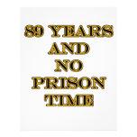 89 ninguna hora de prisión plantillas de membrete