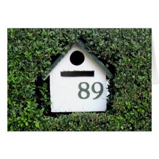 #89 Shrub Mail Birdhouse Box Note / Greeting Card