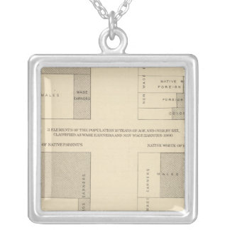 89 Wage earners, classified 1900 Silver Plated Necklace
