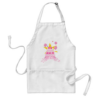 89 Year Old Birthday Cake Adult Apron