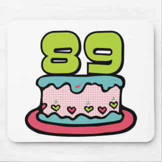 89 Year Old Birthday Cake Mouse Pad