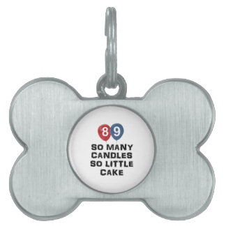 89 year old candle designs pet tag