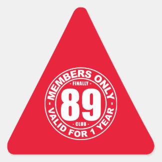 89 year survivor triangle sticker