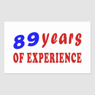 89 years of experience stickers
