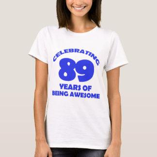 89 years old birthday designs T-Shirt