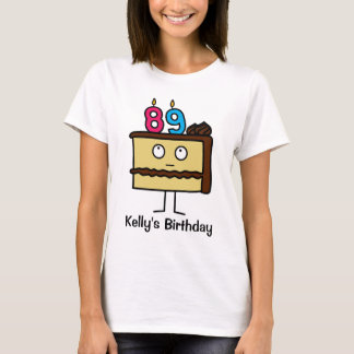 89th Birthday Cake with Candles T-Shirt