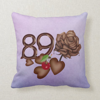 89th birthday Chocolate rose and hearts pillows