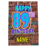 [ Thumbnail: 89th Birthday: Fun, Urban Graffiti Inspired Look Gift Bag ]