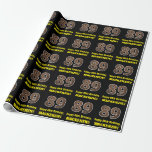 """[ Thumbnail: 89th Birthday: Name & Faux Wood Grain Pattern """"89"""" Wrapping Paper ]"""