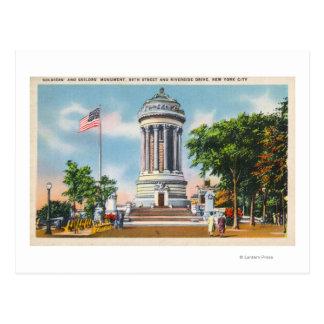 89th St & Riverside Drive Soldiers' Postcard