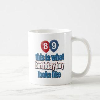 89th year birthday designs coffee mug