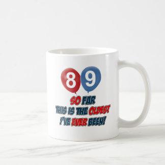 89th year old birthday design coffee mug