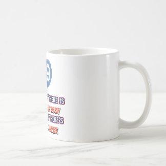 89th year old snow on the roof birthday designs coffee mug
