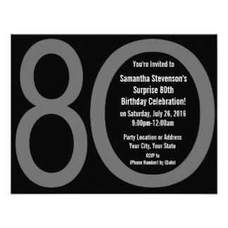 8-0 invitaciones grandes de la fiesta de cumpleaño anuncios