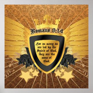 8:14 de los romanos del oro, hijos de dios poster