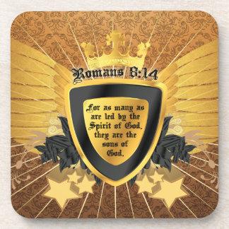 8:14 de los romanos del oro, hijos de dios posavasos de bebida