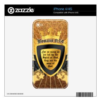 8:14 de los romanos del oro, hijos de dios skin para el iPhone 4S