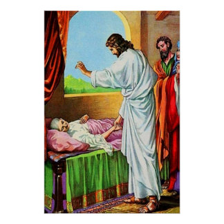 8:14 de Matthew - la suegra de 15 Peter de cura Poster
