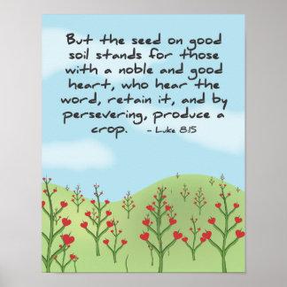 8:15 de Lucas - presente un poster de la cosecha