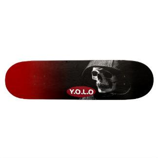 """8 1/2"""" Fatboy Yolo Skull Skateboard deck design"""