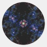 8 1 fractal etiqueta redonda