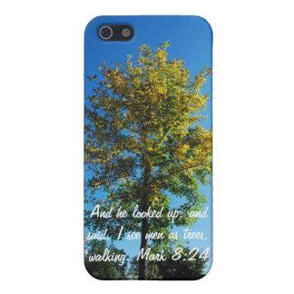 8:24 de la marca del verso de la biblia iPhone 5 funda
