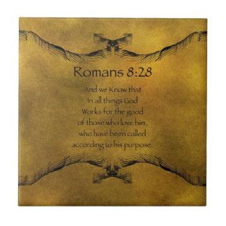 8:28 de los romanos teja cerámica