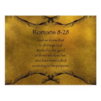 8:28 de los romanos postales
