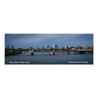 8.28 x 24 Morrison Bridge - Portland, Oregon Photo Print