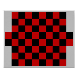 8(+2)x8  Checkers TAG Board (Fridge Magnet Game) Print