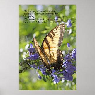 8:31 de Juan - tigre Swallowtail de Mariposa de la Póster